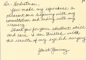 Thank You Letter from J.Y.