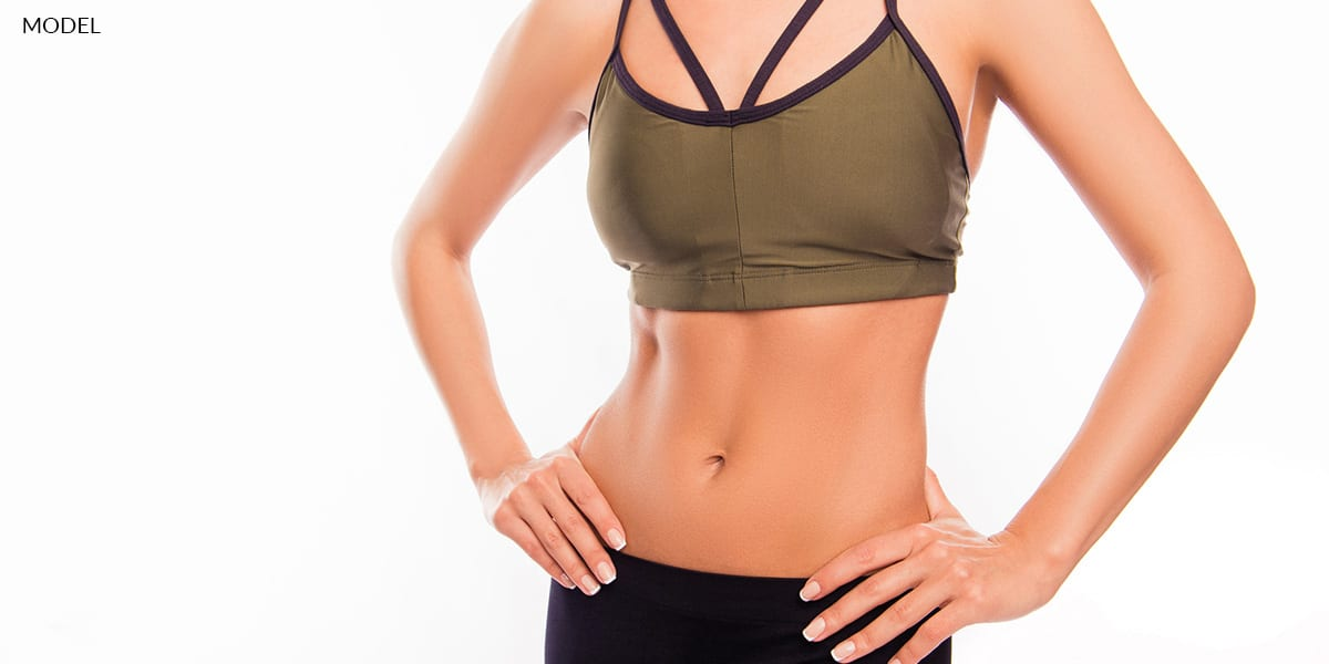 Close Up of A Fit Female Model's Torso
